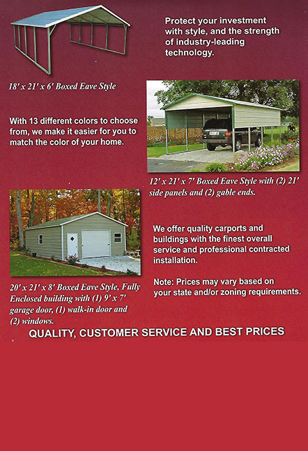CB10 Portable Buildings and Carports   Sheds